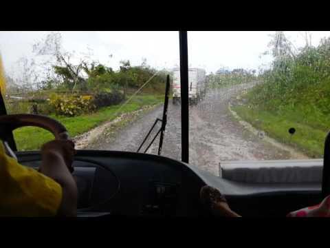 Local bus ride after typhoon devastation in Mindanao, Philippines