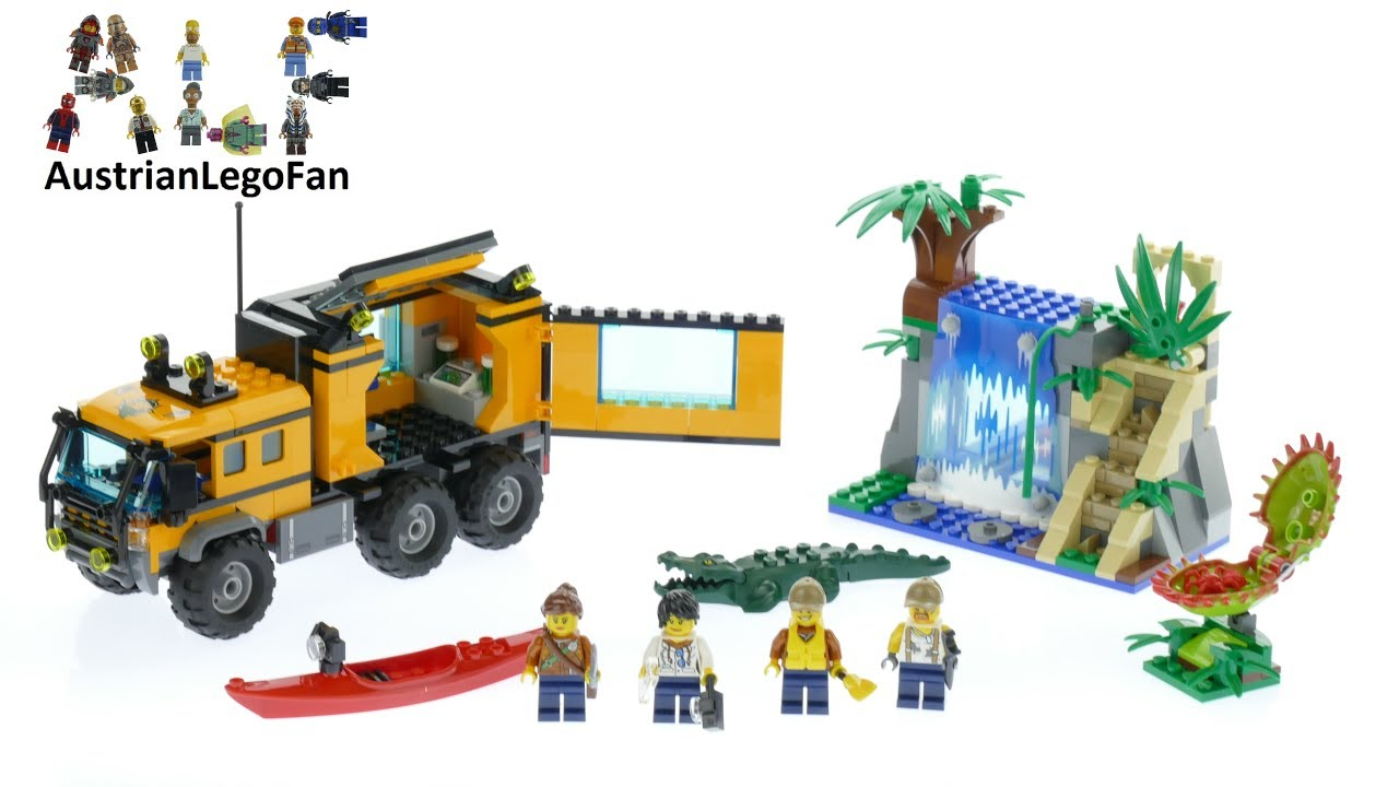 Lego City 60160 Jungle Mobile Lab - Lego Speed Build ...