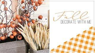 Fall Decorate with me | Fall Farmhouse Decor | Simple Fall Decor