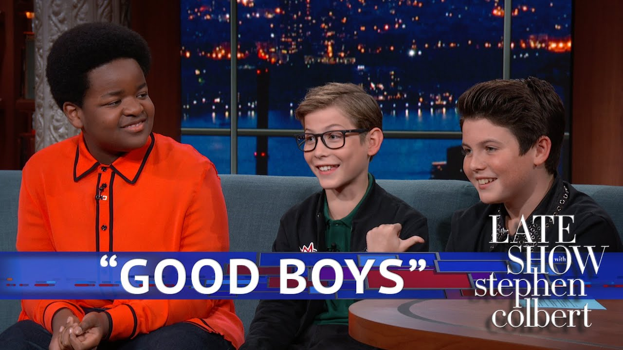 Stephen Colbert quizzes the cast of Good Boys, who, indeed, seem