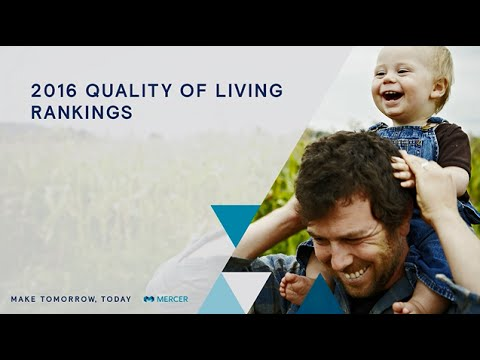 Mercer 2016 Quality of Living City Rankings
