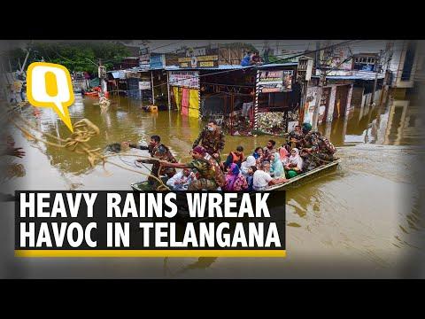 Hyderabad Floods: Rain Pounds Telangana Leaving Several Dead; CM Calls High-Level Meet | The Quint