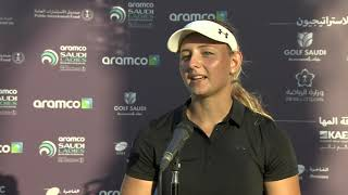 Emily Kristine Pedersen Winner Interview | Aramco Saudi Ladies International
