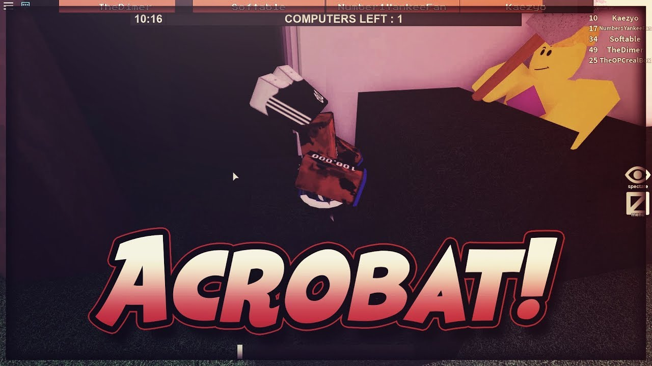 Acrobat Flee The Facility Roblox Youtube - acrobat flee the facility roblox