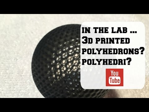 3d Printed Polyhedron on Muve3D DLP Printer (2 sizes)