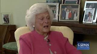 "Barbara Bush: ""I have no fear of death"" (C-SPAN)"