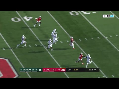 Mike Weber 82-YD TD Run vs. Michigan State