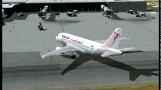 FSX Tunisair cancun -tegu -san jose