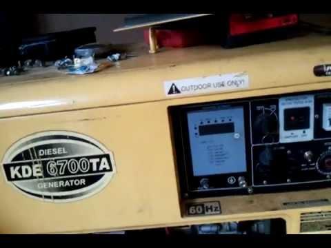 kipor kde 6700 ta diesel generator troubleshooting repair coads