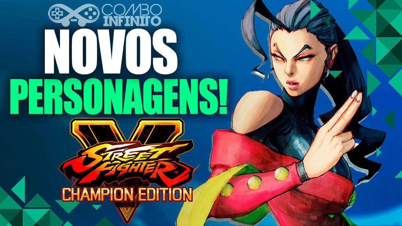 STREET FIGHTER V: NOVOS PERSONAGENS ANUNCIADOS!