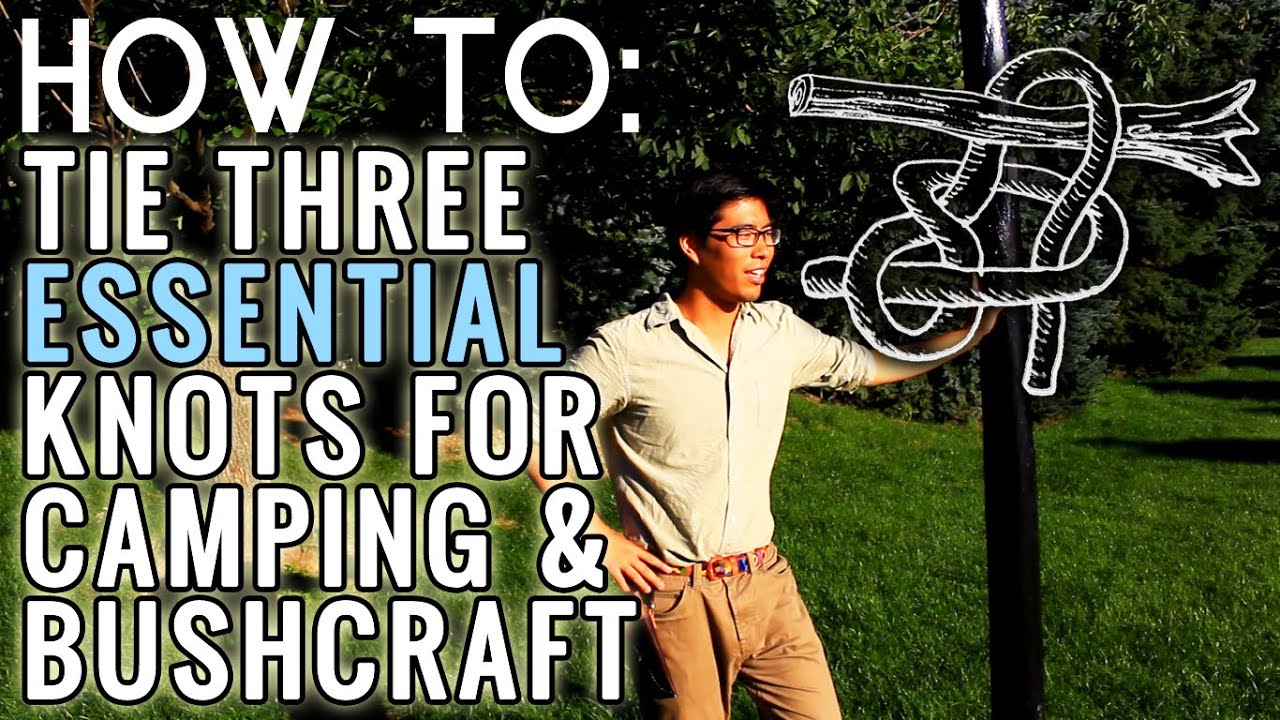 how to tie 3 essential knots for bushcraft and camping   tying the ray mears tarp knots   youtube how to tie 3 essential knots for bushcraft and camping   tying the      rh   youtube