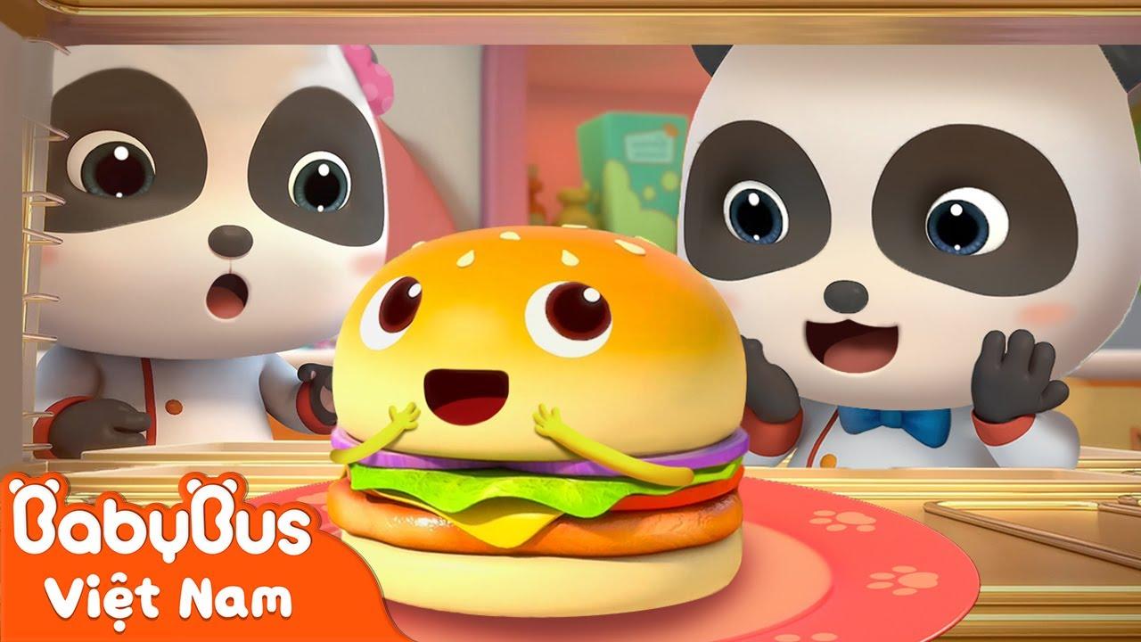 Công thức làm hamburger ngon tuyệt | Đầu bếp Kiki và Miumiu | Nhạc thiếu nhi vui nhộn | BabyBus