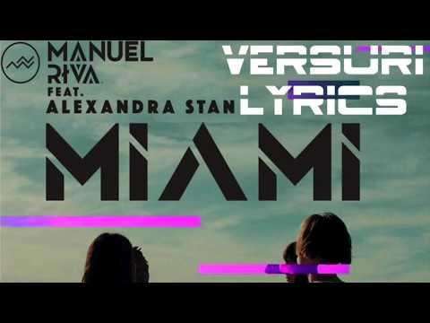 Manuel Riva Feat. Alexandra Stan - Miami (Lyrics / Versuri)