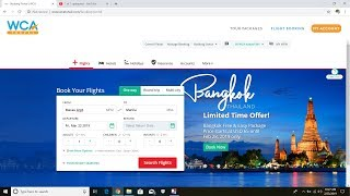 How to Book in WCA Travel in Tour Website including Hotels and Tour Packages
