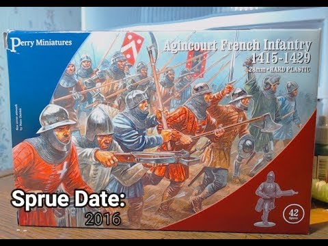 28mm Agincourt French Infantry 1415-1429 Perry AO50