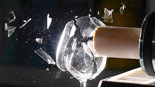 Shattering a Wine Glass with Sound at 187,500FPS  The Slow Mo Guys
