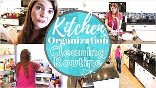 KITCHEN ORGANIZATION CLEANING ROUTINE // CLEAN WITH ME