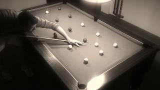 31ème Exercice (5 lignes rentrer les billes ligne par ligne)billard anglais 8 pool blackball
