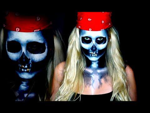 Halloween Skull Makeup Tutorial | Pirate Edition - YouTube