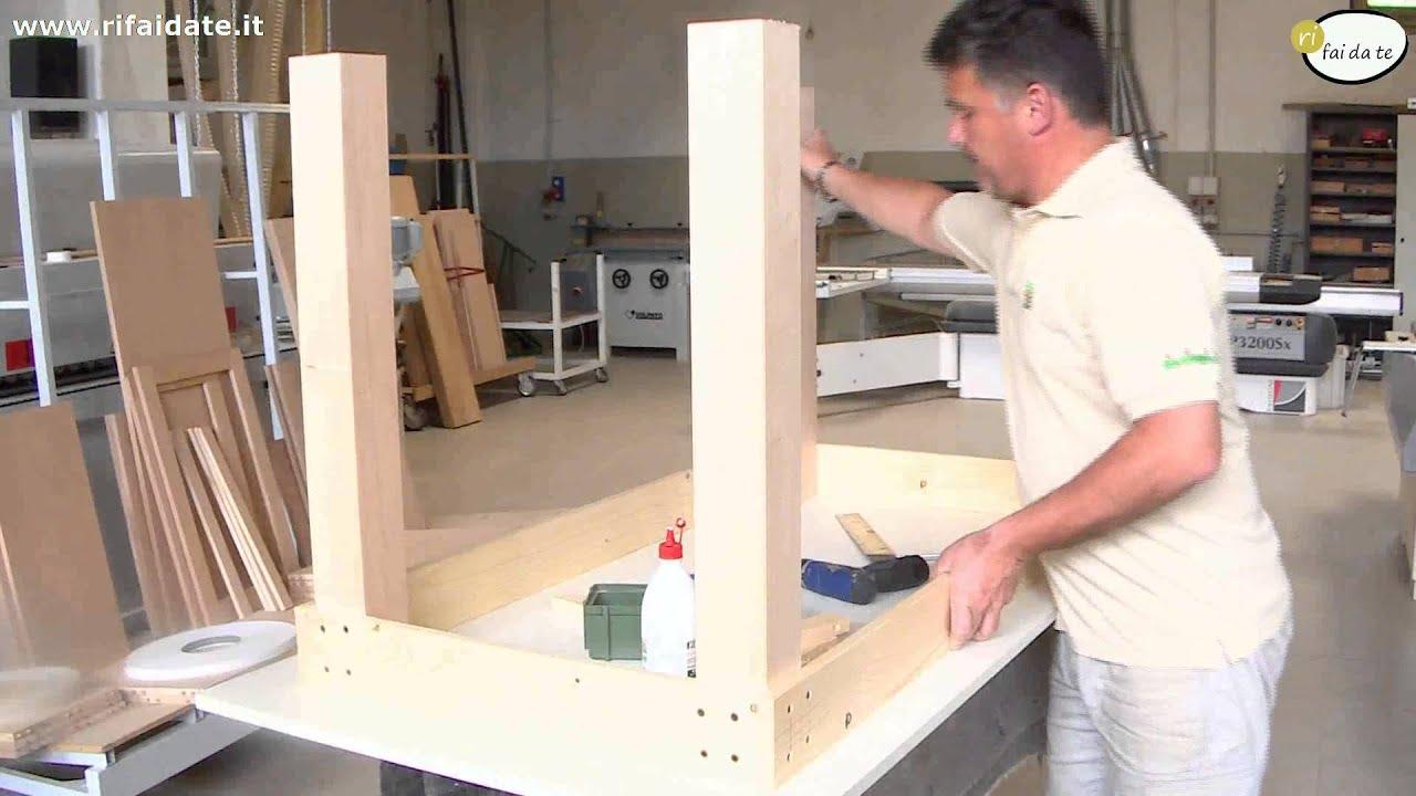 Come costruire un tavolo in legno parte 2 youtube for Piani casa economica da costruire