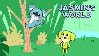 Jasmin's World - Learn and Sing with Olivia the koala & Jasmin *Cartoon for kids*