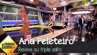 Ana Peleteiro revive el increíble triple salto que la hizo campeona - El Hormiguero 3.0