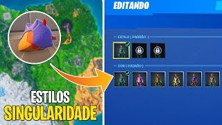 WHERE TO CATCH ALL THE HELMETS/STYLES OF THE SINGULARITY SKIN! -Fortnite Battle Royale