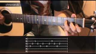 """Cómo tocar """"Nada Valgo Sin Tu Amor"""" de Juanes en Guitarra (HD) Tutorial - Christianvib"""
