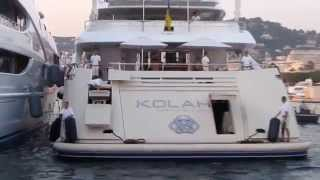 Superyacht Kolaha entering Port Pierre Canto Cannes - owned by the Al Juffali family