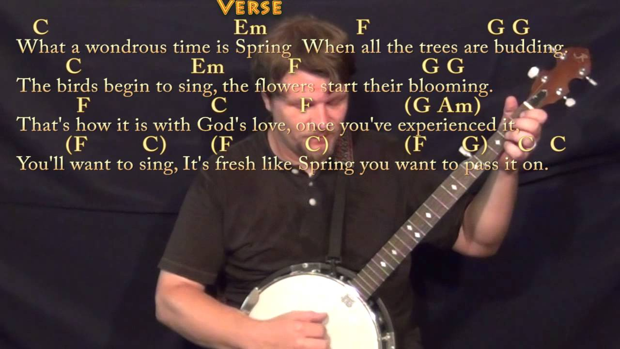 Pass it on it only takes a spark banjo cover lesson with chords pass it on it only takes a spark banjo cover lesson with chordslyrics hexwebz Image collections