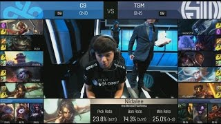 [EPIC] C9 (Sneaky Tristana) VS TSM (Doublelift Lucian) Highlights - 2016 NA LCS Spring W3D1