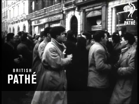 Demonstrations In Paris Against Policy In Algiers (1956)