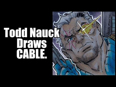 Todd Nauck draws Cable.
