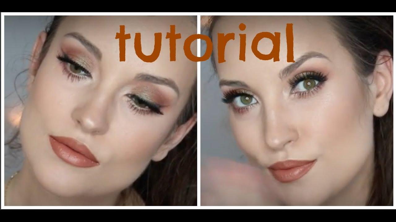 Ciepły Makijaż Z Cieniami Duochrome Glamshadows I Brązowymi Ustami