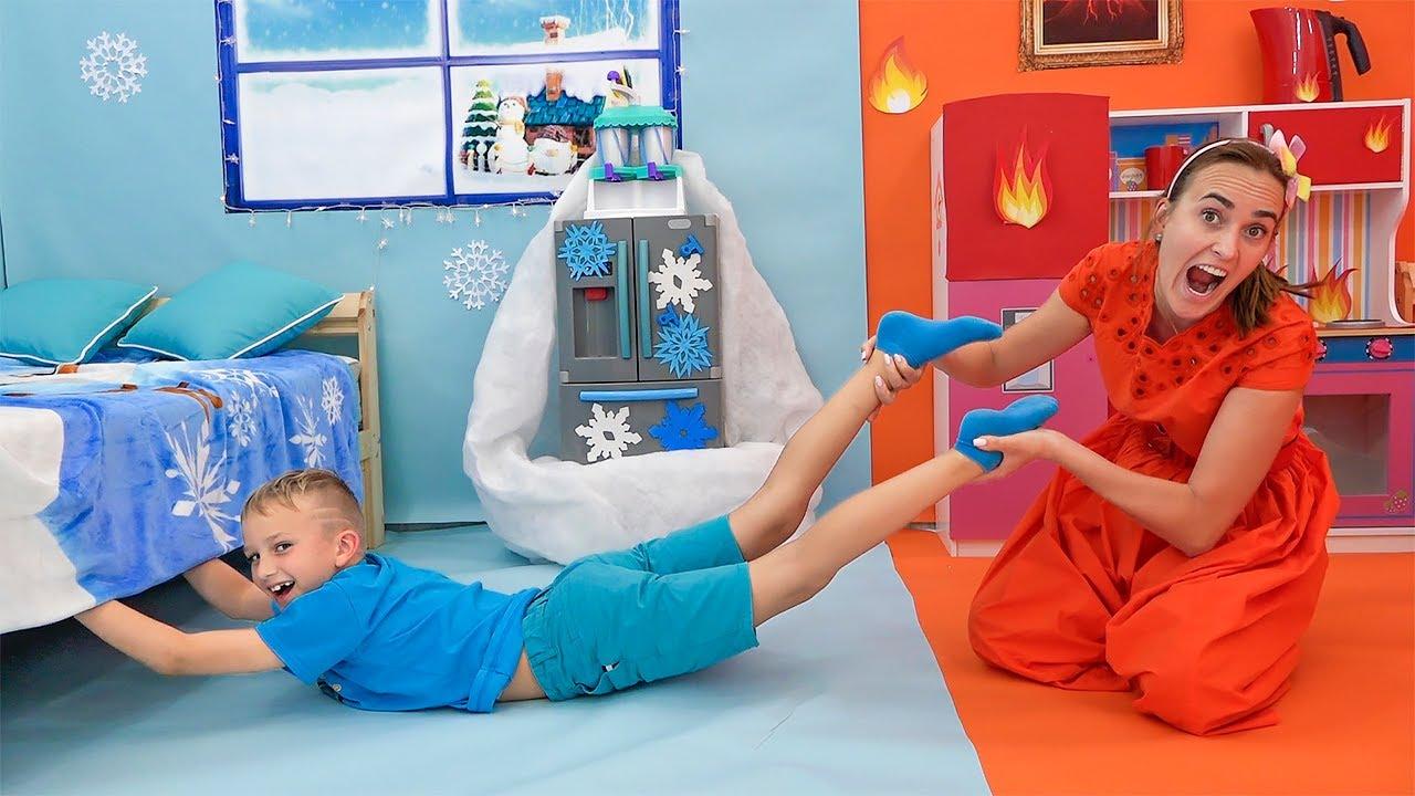 Vlad và Thử thách Nóng vs Lạnh với Mẹ