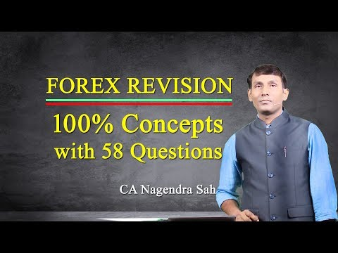 FOREX Revision!! 100% Concept with 58 Questions!! CA Nagendra Sah