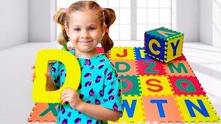 ABC गीत - डायना के साथ बच्चों के लिए अंग्रेजी वर्णमाला सीखे