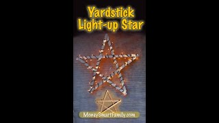 How to Make Simple Yardstick Light-Up Star/ Lighted Christmas Decoration/ Lighted Window Decoration