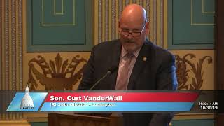 Sen. VanderWall addresses the Michigan Senate on SCR 14
