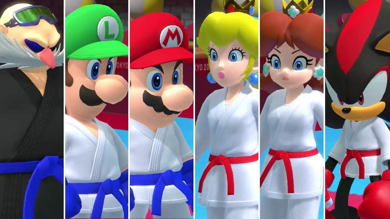 Mario & Sonic at the Olympic Games Tokyo 2020 - Karate (All Characters)