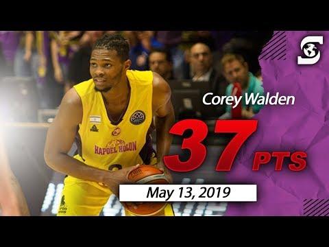 Corey Walden Hapoel Holon 37pts 6ast vs Maccabi Rishon