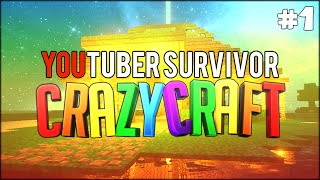 Minecraft: Youtuber Survivor! #1 - THE BEST THING EVER w/ bodil40 (Minecraft Crazy Craft 3.0 SMP)