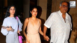 After Sridevi's Demise Boney Kapoor & Daughters Janhvi and Khushi Take Time off To Heal | LehrenTV