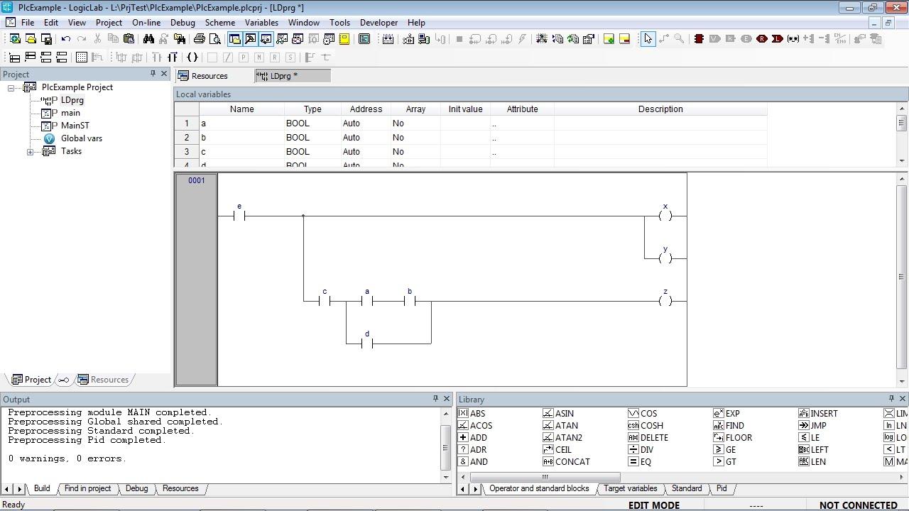 Logiclab Tutorial 2 Ladder Diagram Editor Youtube