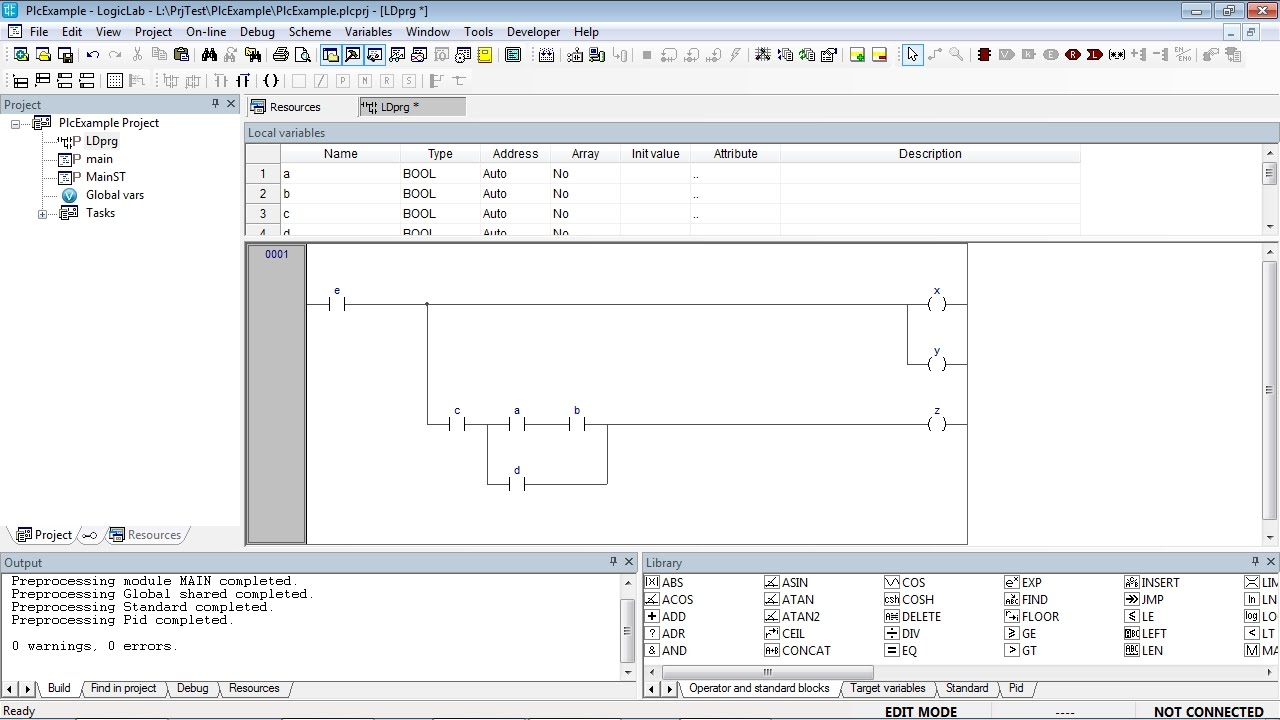 Ladder Diagram Ld