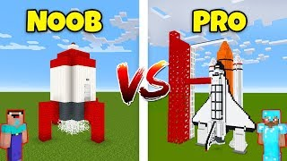 Minecraft NOOB vs. PRO ROCKET SHIP in Minecraft! AVM SHORTS Animation