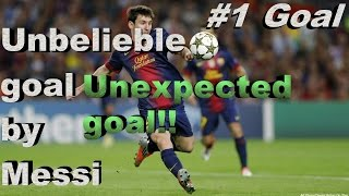 Unbelievable goal by Messi from 45 yard goal (4K-HD Quality)