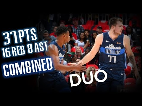 Luka Doncic & Dennis Smith Jr.🔥Duo Highlights vs Hawks - Dallas Mavericks - 24.10.18