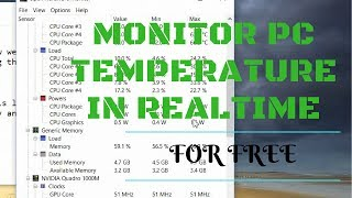 [How to] Check & Monitor PC Temperature on Windows 10 or 8/7