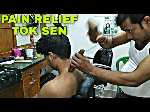 Asim Barber The Great Tok Sen Massage For Body Pain Relief | Indian ASMR | Neck Cracking